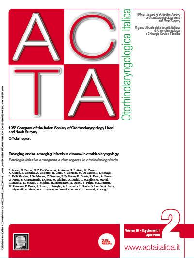 Cover of ACTA Otorhinolaryngologica Italica - Issue 2 - Supplement 1 - April 2018