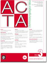 Cover of ACTA Otorhinolaryngologica Italica - Issue 3 - June 2018