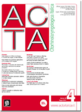 Cover of ACTA Otorhinolaryngologica Italica - Issue 4 - August 2018