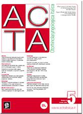Cover of ACTA Otorhinolaryngologica Italica - Issue 5 - October 2018